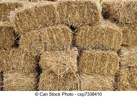 Stacked hay bales clipart.
