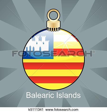 Clipart of Balearic Islands flag k5111341.