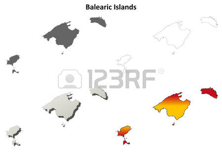 506 The Balearic Islands Stock Vector Illustration And Royalty.