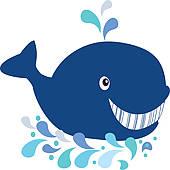 Blue Whale Tail Clip Art.