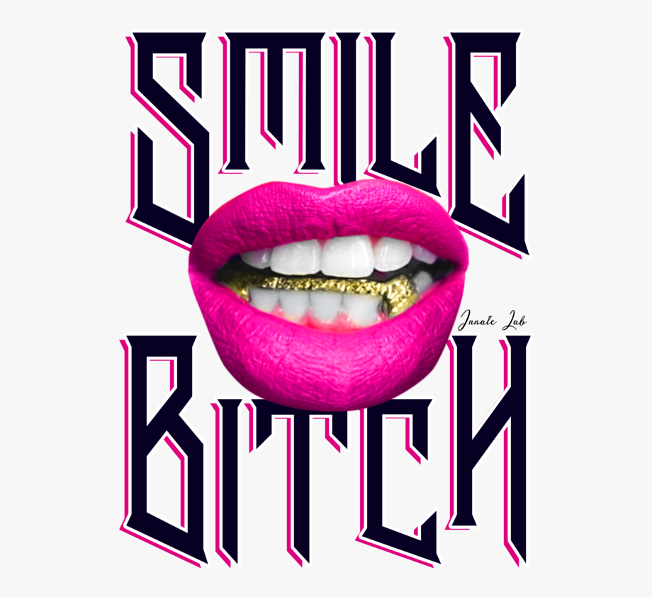 Smile Bitch Female Grillz Gold Lips Balenciaga Triple.