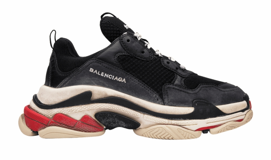 Balenciaga Triple S Trainer 'black Red'.