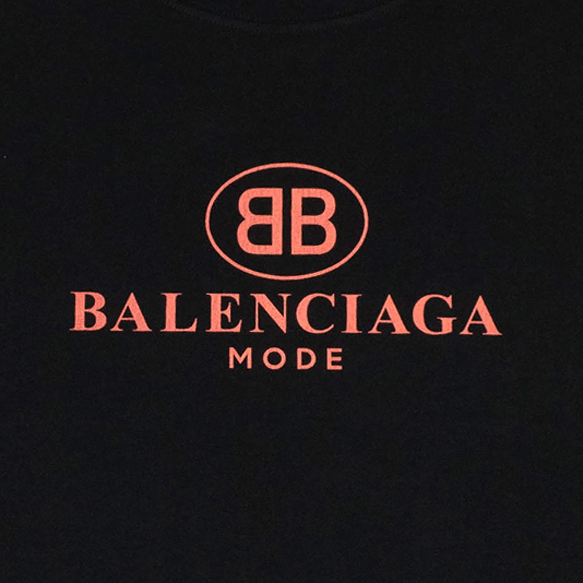 Balenciaga BB Mode T Shirt Black Pink.