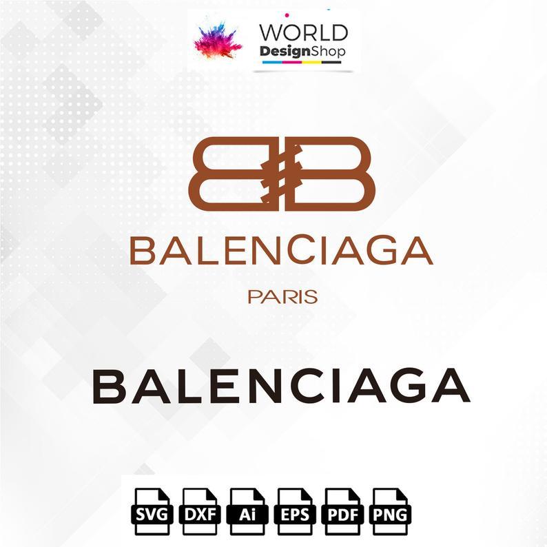 Balenciaga Logo SVG, Luis Vuitton Logo SVG cutting file, Balenciaga  clipart, brand logo Cut files Png Ai Eps Pdf Dxf for cricut.