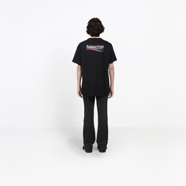 Balenciaga Logo Printed T Shirt for Men.