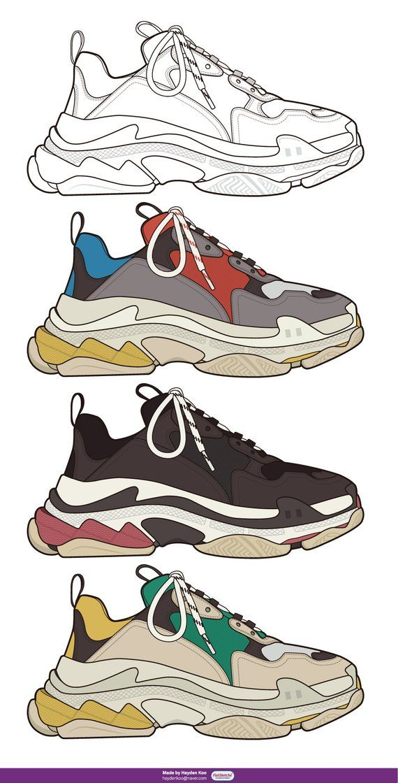 Vector Shoes illustration in 2019.