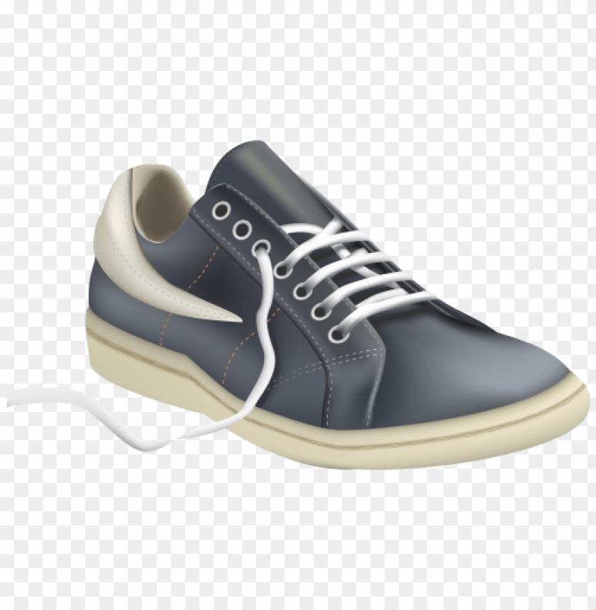 Grey Men Sport Shoe Clipart png.