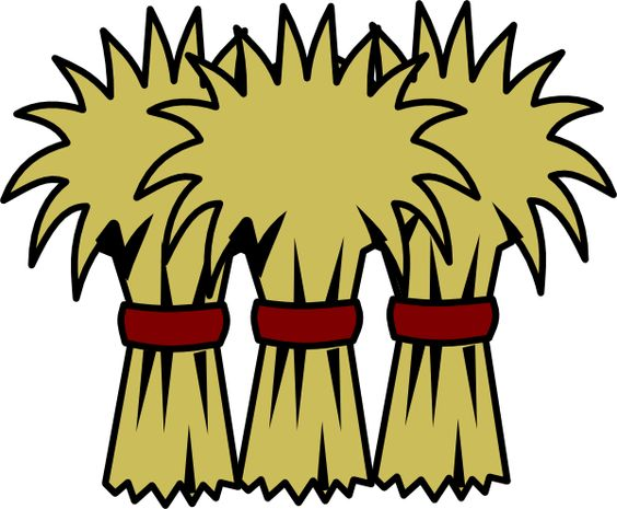 Cartoon Hay Bale Clipart.