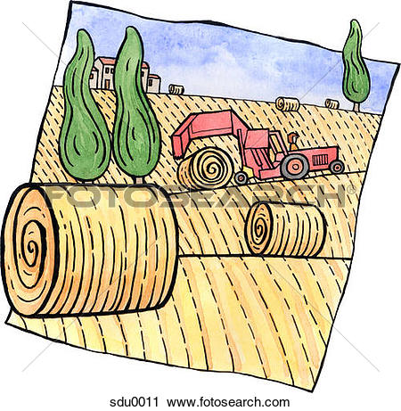 Hay bales Stock Illustrations. 100 hay bales clip art images and.