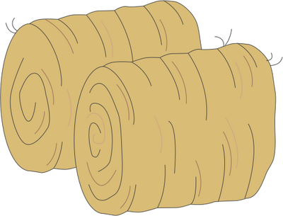 Animated transparent clipart hay bale.