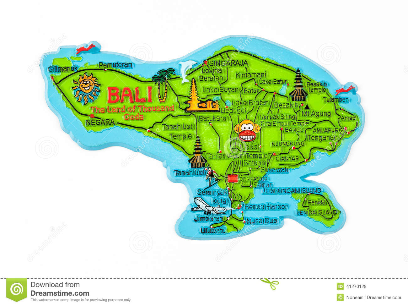 Bali Islands Clipart.