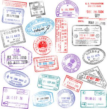 Passport stamps vector free vector download (911 Free vector.