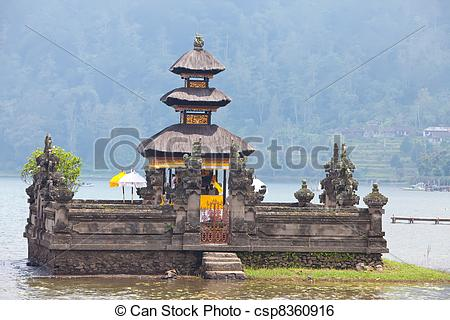 Stock Image of Bali Pura Ulun Danu Bratan Water Temple csp8360916.
