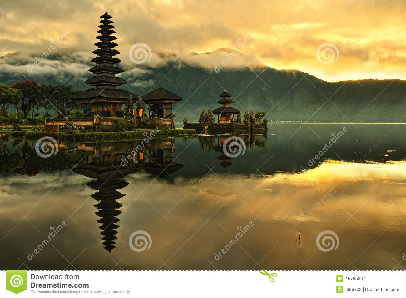 Bali Pura Ulun Danu Bratan Water Temple Royalty Free Stock.