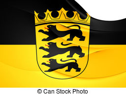 Flag of baden wurttemberg germany Illustrations and Clip Art. 195.