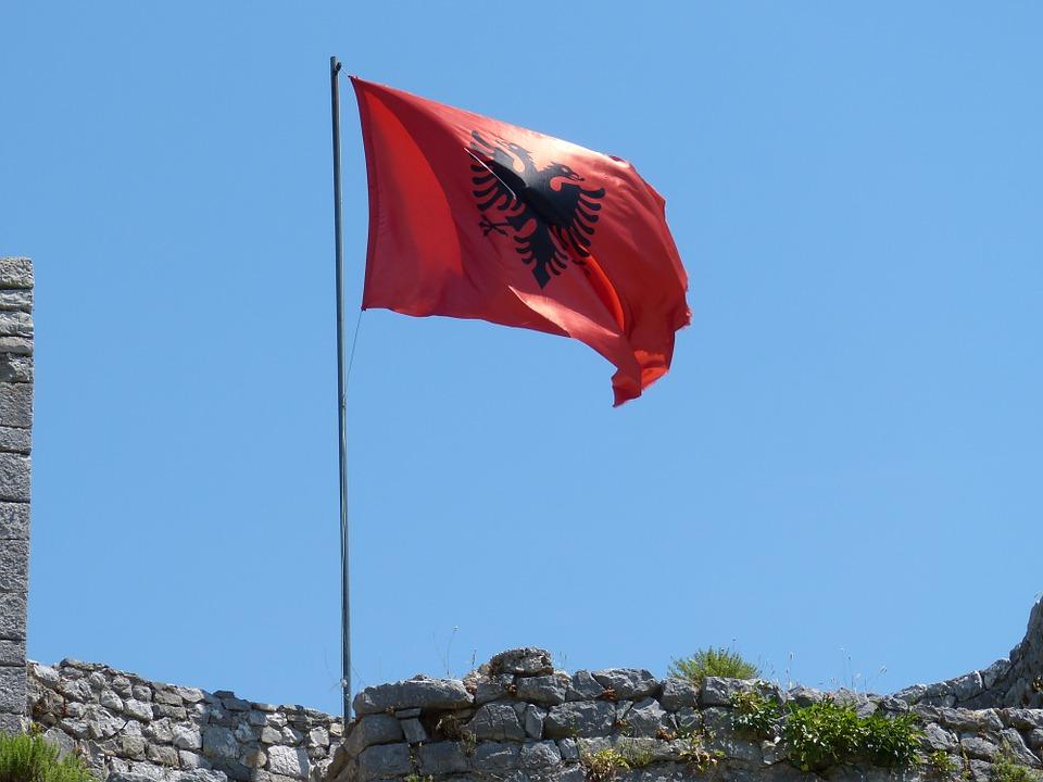 Free photo: Albania, Balkan, Shkodër, Flag.