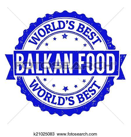 Clipart of Balkan food stamp k21025083.