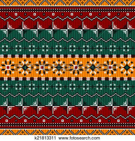 Clipart of Balkan style ethno country carpet k21813311.