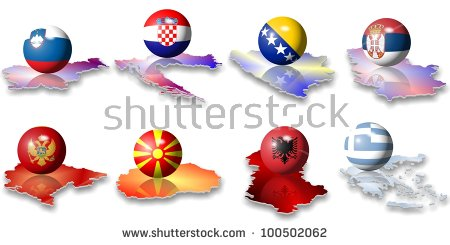 Balkan Map Stock Photos, Royalty.