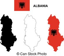 Albania flag albania map balkan map Clip Art Vector Graphics. 9.