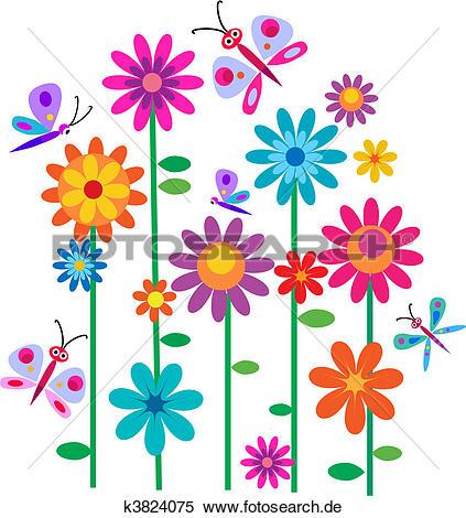 Blumen Clip Art und Illustrationen. 493.763 blumen Clipart Vector.