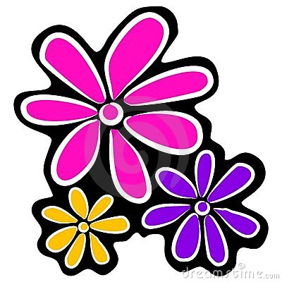 Clipart Blumen Stockfotos.