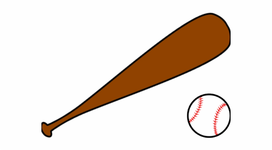 Red Clipart Baseball Bat.