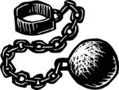 Ball and chain free clip art.