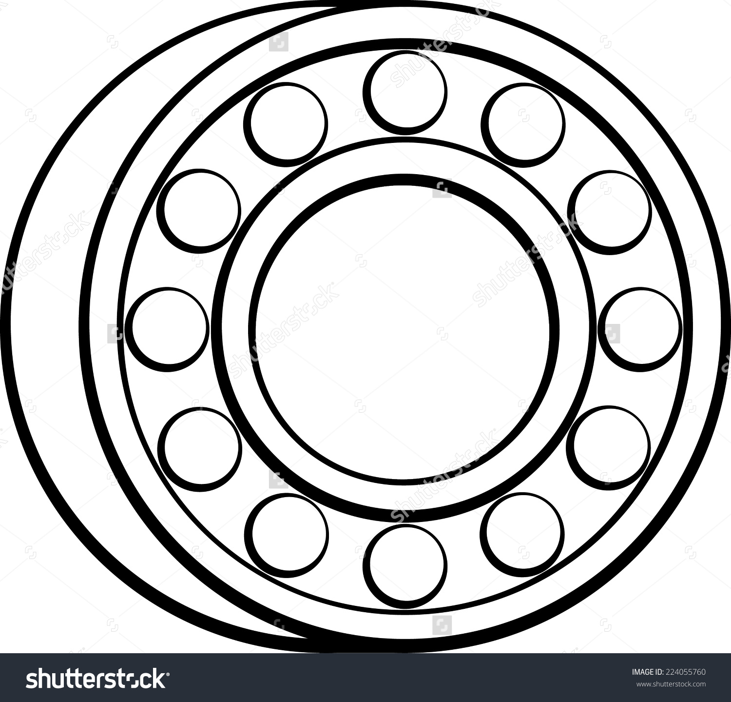 Ball Bearing Stock Vector 224055760.