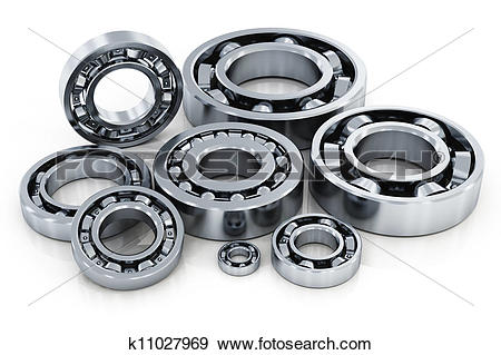 Stock Illustration of Collection of ball bearings k11027969.