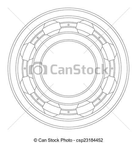 Clipart Vector of Bearing.