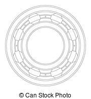 Clipart Vector of Ball Bearing.