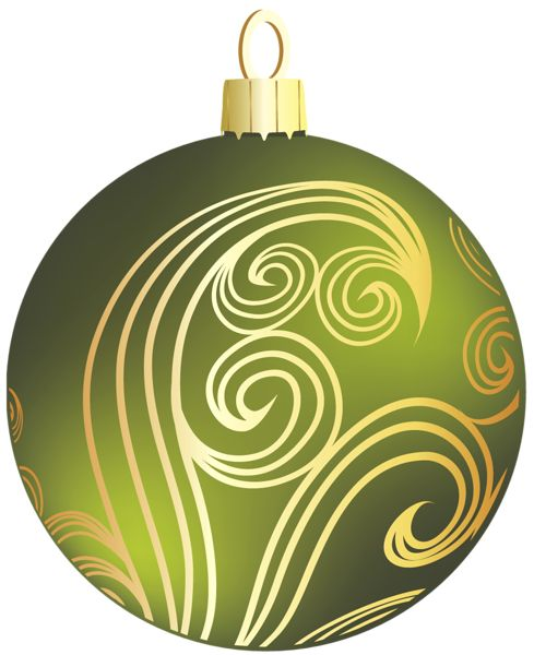 Green christmas bulb clipart.