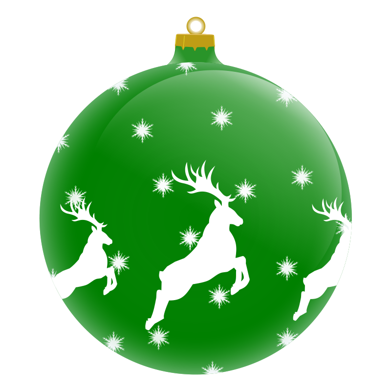 Christmas ornament bulb clipart.