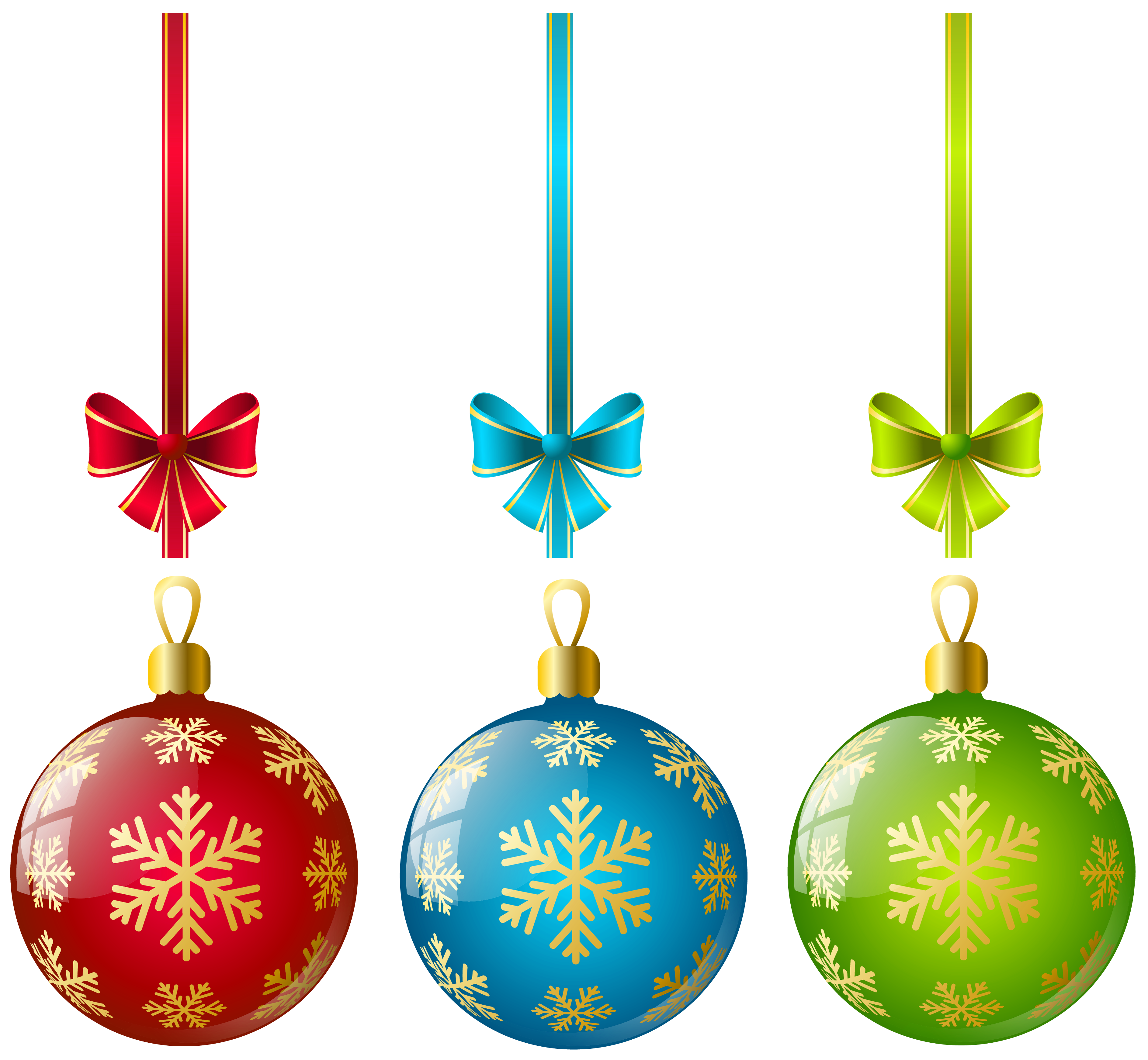 Christmas bulb ornaments clipart.