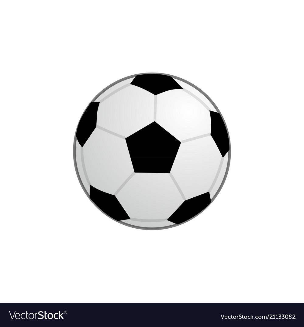 Basic football ball icon clipart.