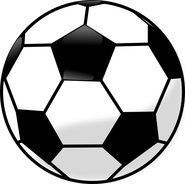 Soccer Ball clip art Free vector in Open office drawing svg.