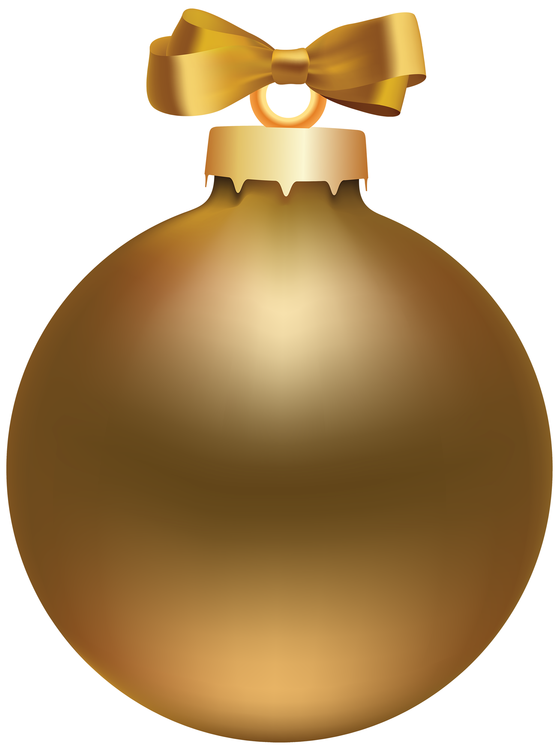 Golden Style Christmas Ball PNG Clipart.