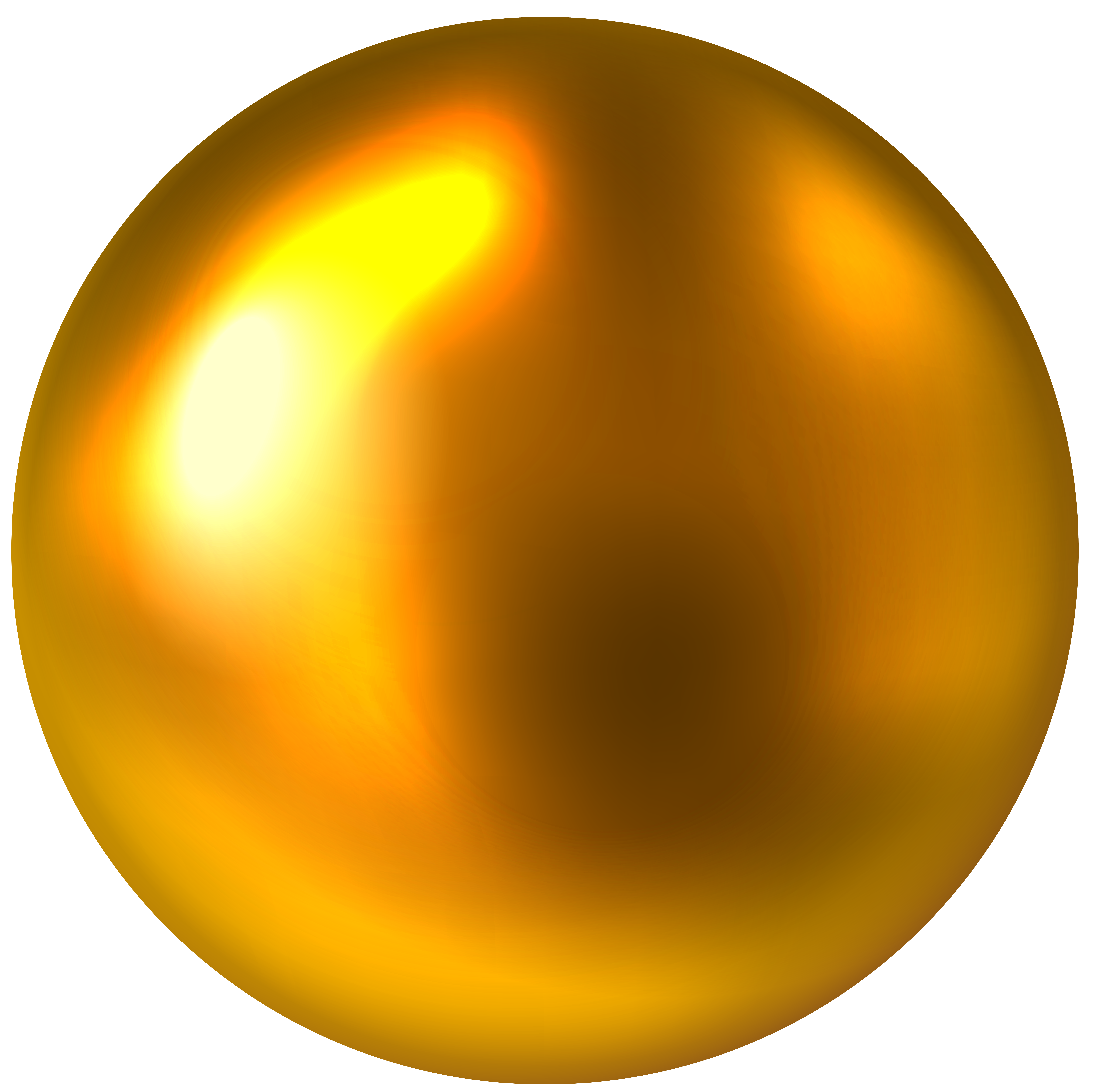Gold Ball Free PNG Clip Art Image.