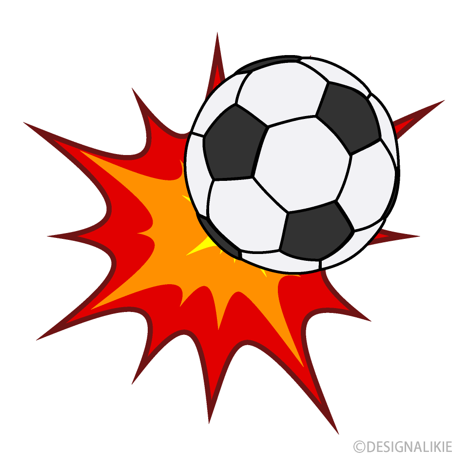 Free Hit Soccer Ball Clipart Image|Illustoon.