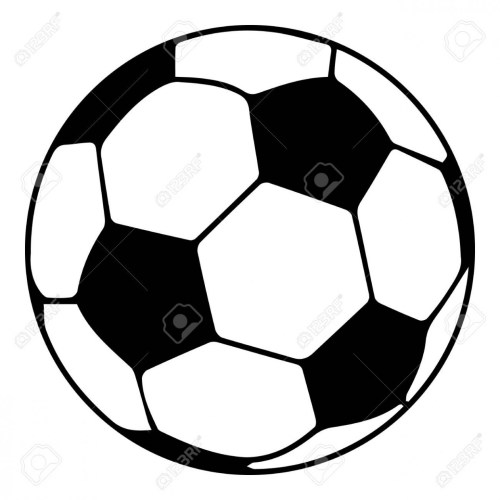 Soccer ball icon, simple black style.