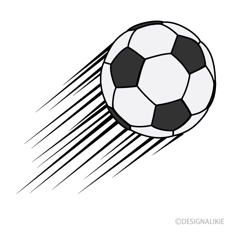 Free Flying Soccer Ball Clipart Image|Illustoon.