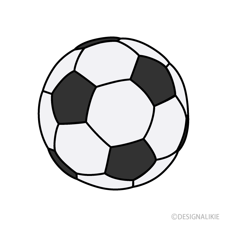 Free Black and White Soccer Ball Clipart Image|Illustoon.
