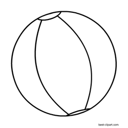 Black and white beach ball clip art.