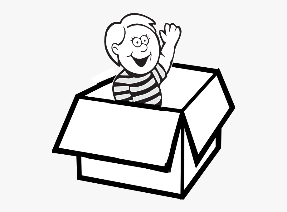 Ball In The Box Clipart Black And White.