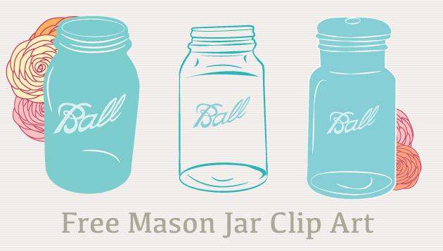 Free Mason Jar Clip Art Vectors.