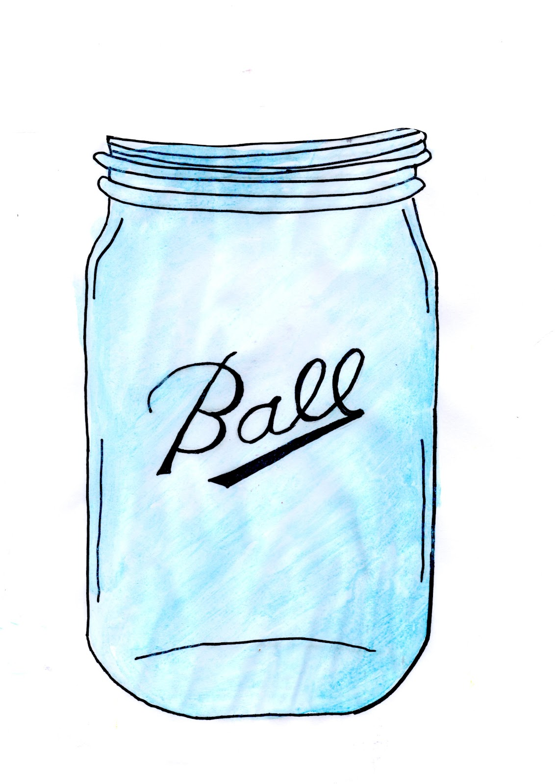 Ball jar clipart.