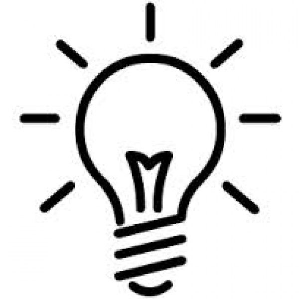 Clipart outline lamp.