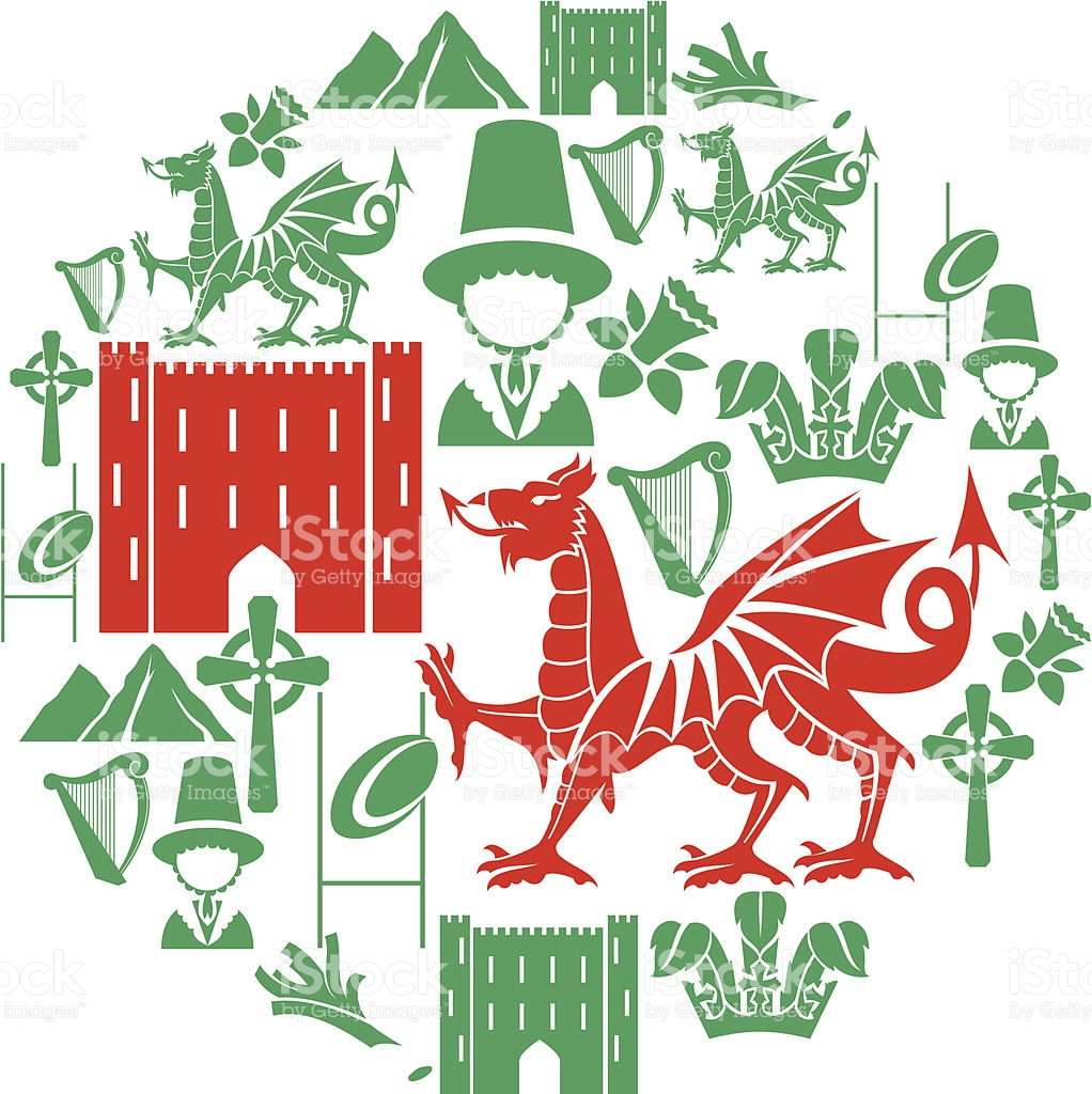 Welsh Icon Set stock vector art 165794667.