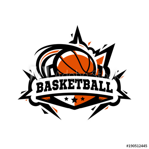 Swoosh Basketball Ball Logo.